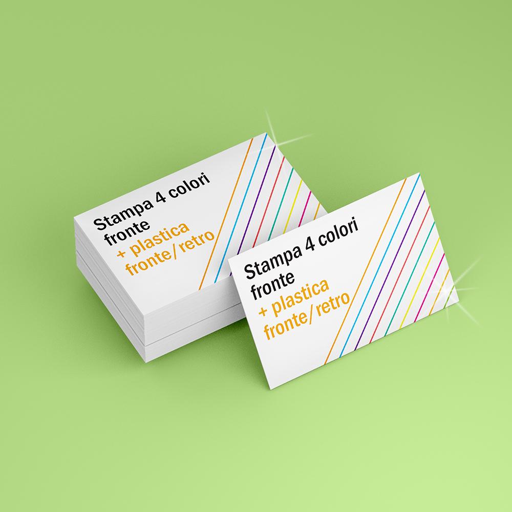Biglietti da visita con stampa fronte, plastificati fronte/retro